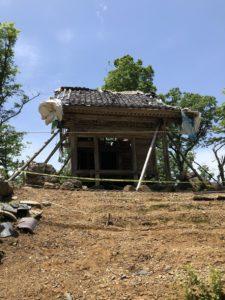 福井市の文殊山山頂