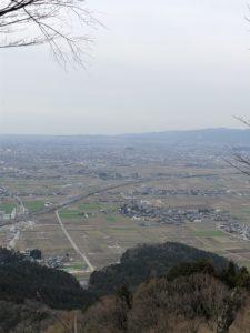 山頂からの福井市